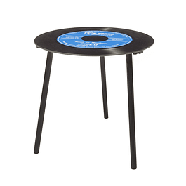 Mesa lateral de vinilo azul Mod 3.