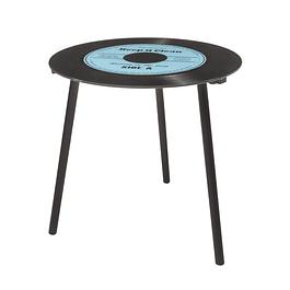 Mesa lateral de vinilo azul Mod 4.