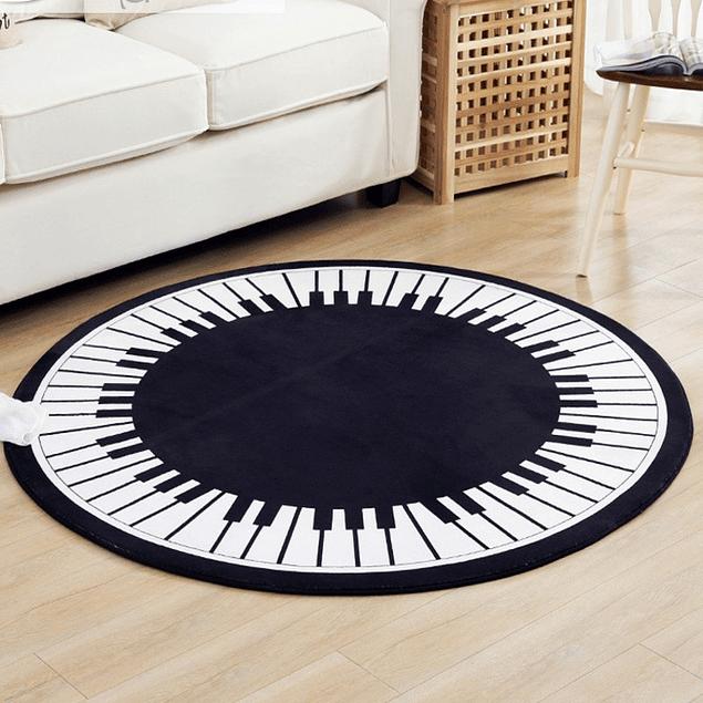 Alfombra Poliéster Redonda de Piano