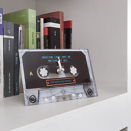 Reloj decoración Cassette 2 Negro