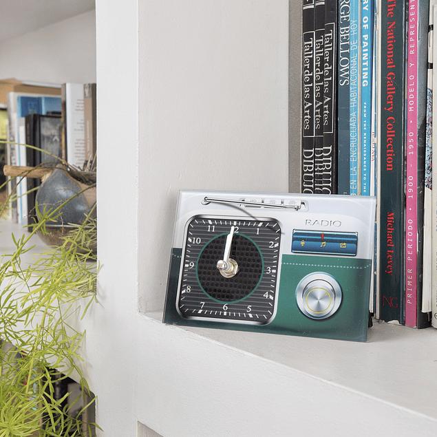 Reloj decoración Radio 1 Verde