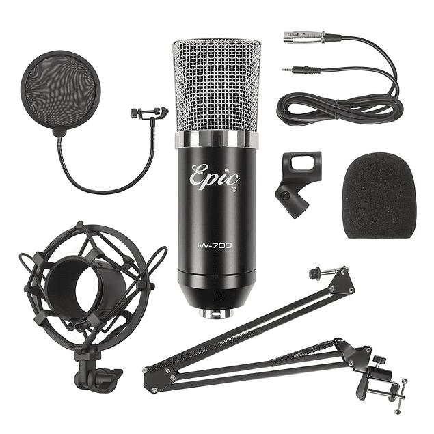 Set Micrófono condensador Negro