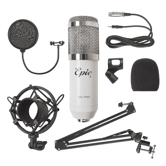 Set Micrófono condensador Blanco