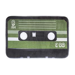 Alfombra Limpiapies con Diseño Casette verde