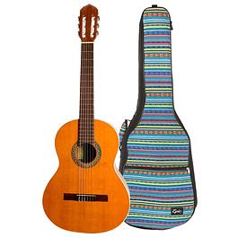 Guitarra Clásica Nogal con Bolso Acolchado