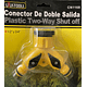 """CONECTOR DOBLE SALIDA 1/2"""" y 3/4"""""""