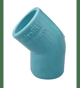 CODO PVC PRESIÓN 45° / 25 mm