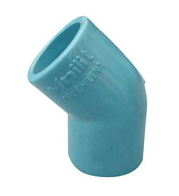 CODO PVC PRESIÓN 45° / 40 mm