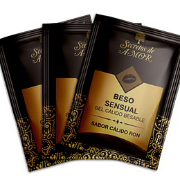 Gel Beso Sensual  RON  Sachet (Pack 3 unidades)