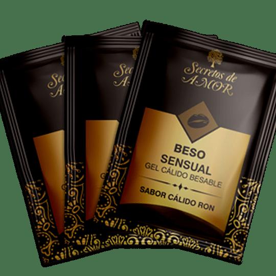 Gel Beso Sensual  RON  Sachet (Pack 3 unidades)