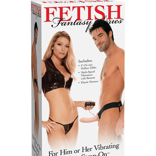 Arnés con prótesis vibrador Fetish