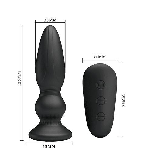 Masajeador Prostático / Plug Anal Recargable y Control Remoto