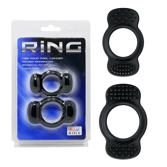 Anillo Ring Duo Negro