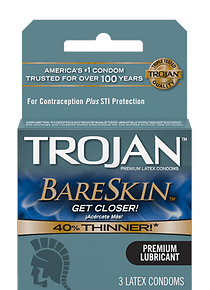 Pack x 3 Condón Trojan Bareskin