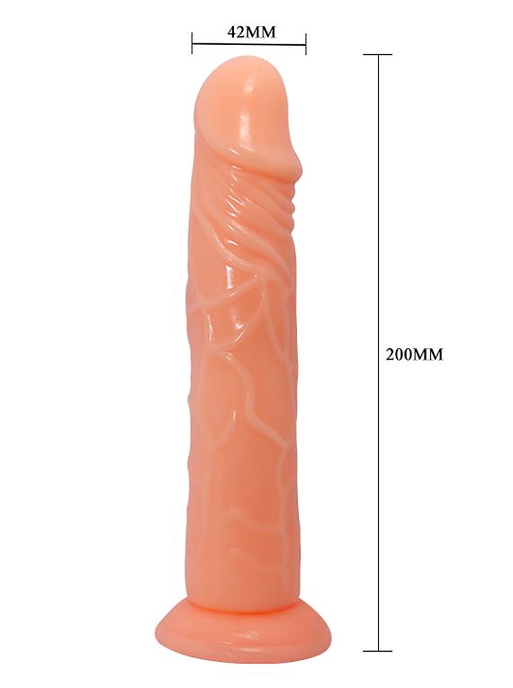 Dildo PVC con base de succión
