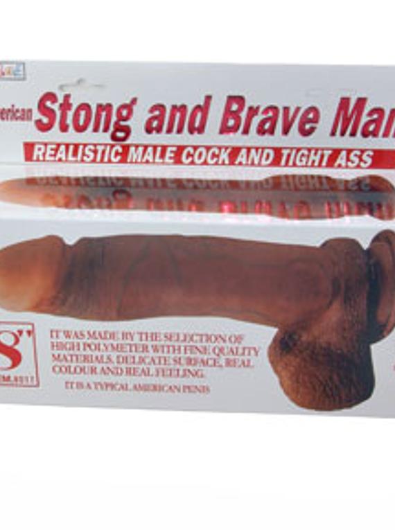 Dildo Brave Man PVC base de succión