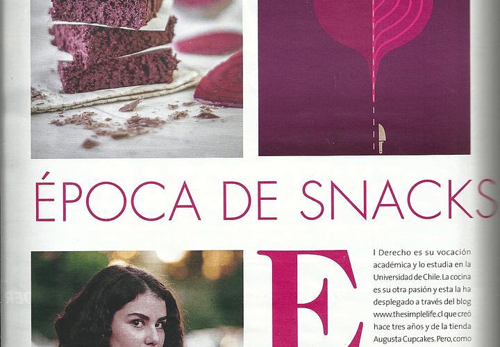 Epoca de snacks sanos. Revista Cosas