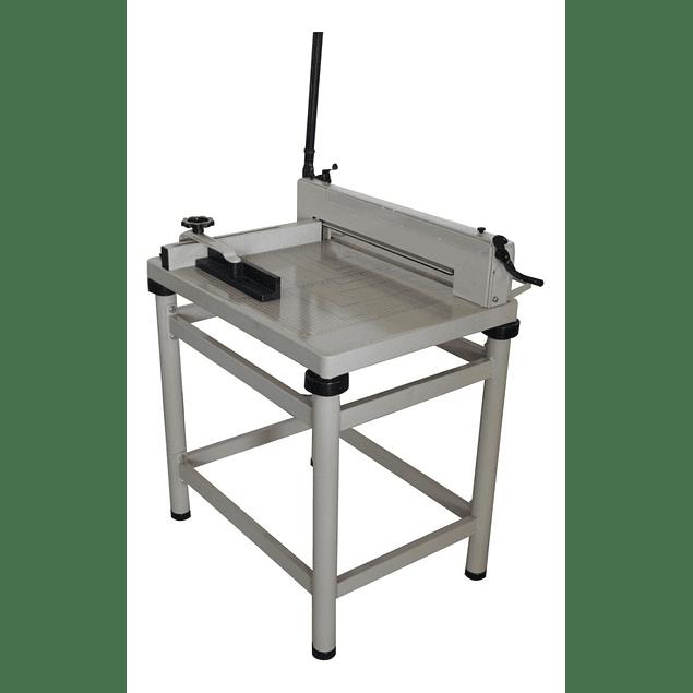 """Guillotina manual cortadora de papel pison manivela 17"""" con base banco"""