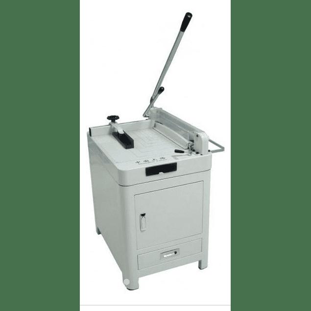 """Guillotina Indistrial cortadora de papel 17"""" o 43 cm palanca con base gabinete"""