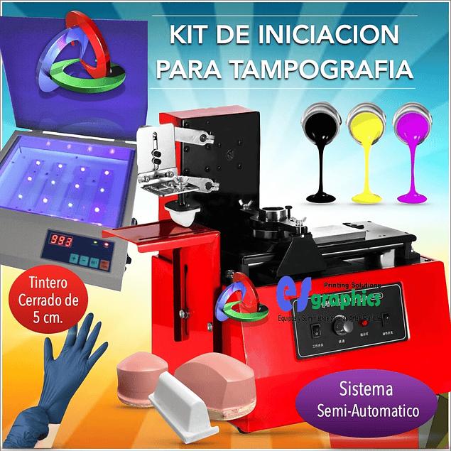 Kit De Tampografía Con Sistema Semiautomático Iniciación