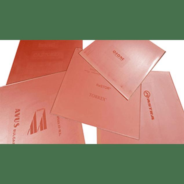 Pack de 5 Placas Tampografia Cliché Polimero Fotosensible Base Agua 10x21cm.