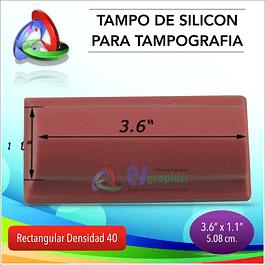 Tampo De Silicón Rectangular 90x28mm Dens40 Para Tampografía