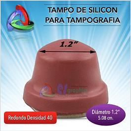 Tampo Redondo De 30mm De Diámetro Densdiad 40 Para Tampografía
