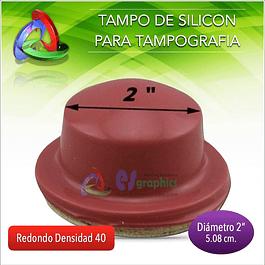 Tampo Redondo Para Tampografía De 50mm De Diámetro Densdiad 40