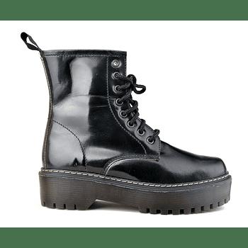Combat Boot Charol Negro