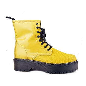 Combat Boot Amarillo Escamas