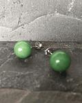 Aros de Bola en Jade Verde
