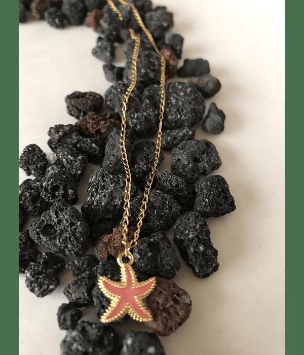 Cadena en enchape oro con Dije de estrella de Mar