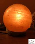 Lampara de Sal Himalaya Rosada con forma de Esfera