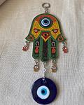 Colgante de Mano de Fatima de colores