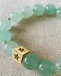 Pulsera Jade Verde con dije de estrella
