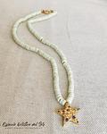 Collar de Nacar con dije de estrella en Micro circonia