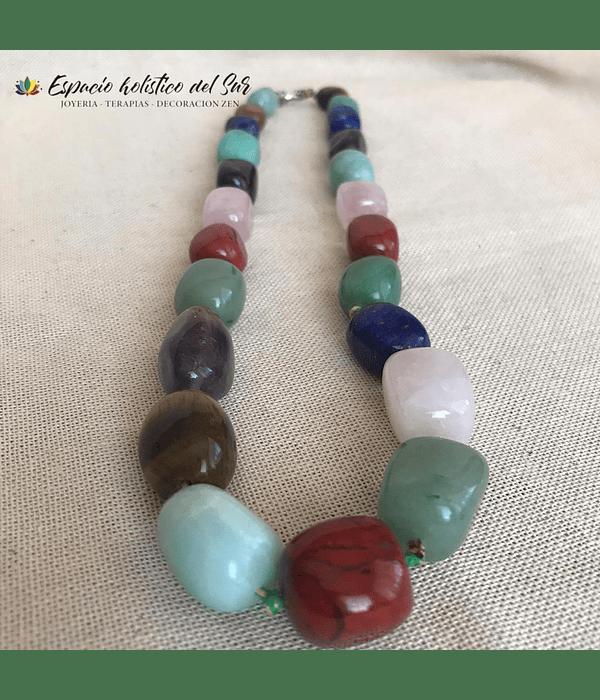 Collar Mix de Piedras Naturales
