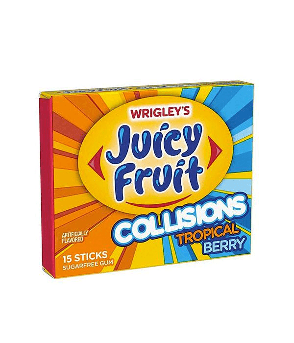 Juicy Fruit collisions tropical berry, chicle