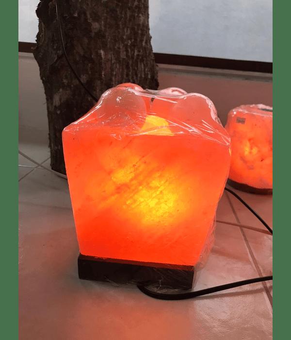Lampara de Sal Rosada del Himalaya Bowl cubo con Esferas