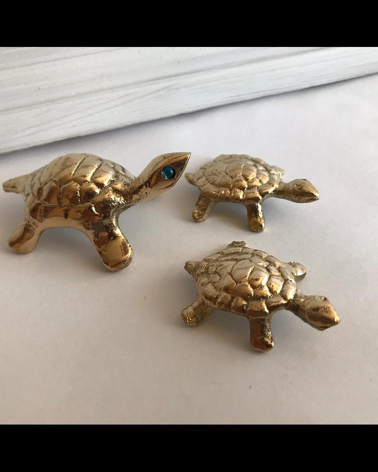 Tortugas de Bronce Trio Miniaturas
