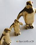 Pinguinos  de Bronce trío miniaturas