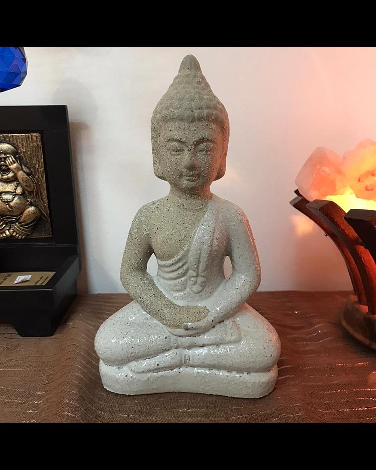Buda Blanco en ceramica