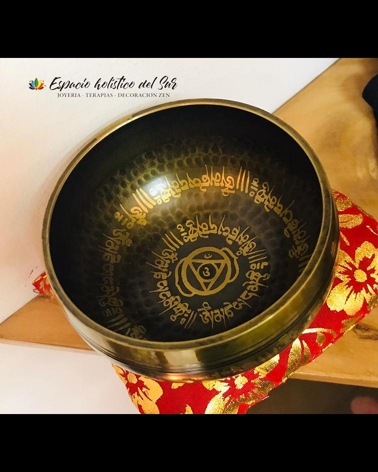 Cuenco Tibetano 7 Metales Miniatura nota SOL