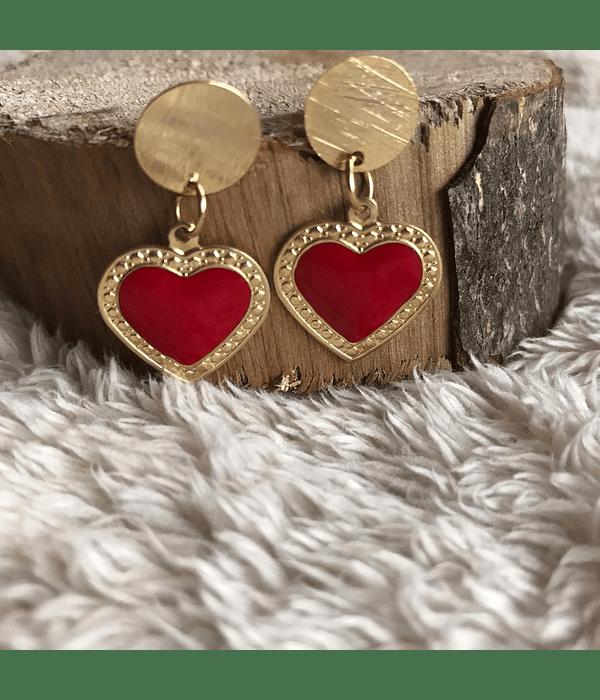 Aros Corazón Enchape