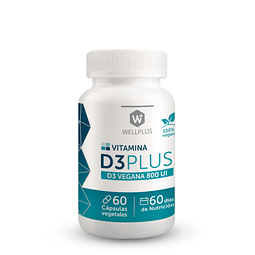 Vitamina D3 Plus vegana - WELLPLUS