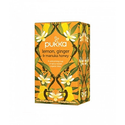 TÉ ORGÁNICO PUKKA - LEMON, GINGER & MANUKA HONEY x 20 bolsitas