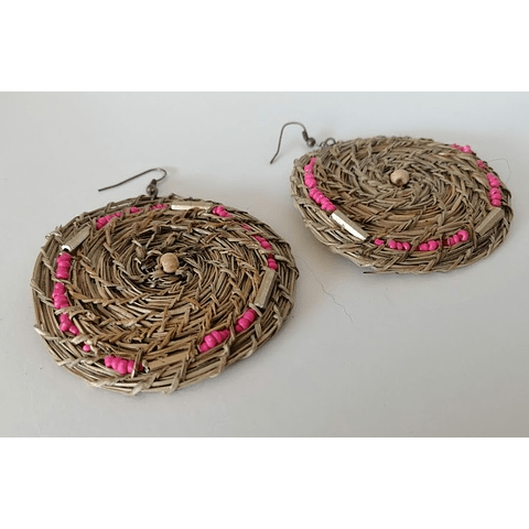 Aro manila diseño en rosa y dorado