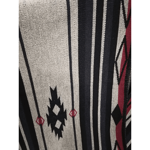 Ruana con capucha tonos negros