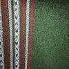 Ruana verde con borde