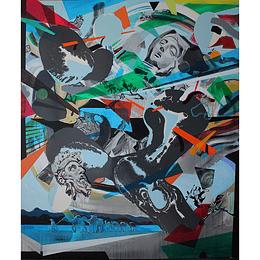 Andreas Von Gehr - Batalla neo barroca (petróleo)